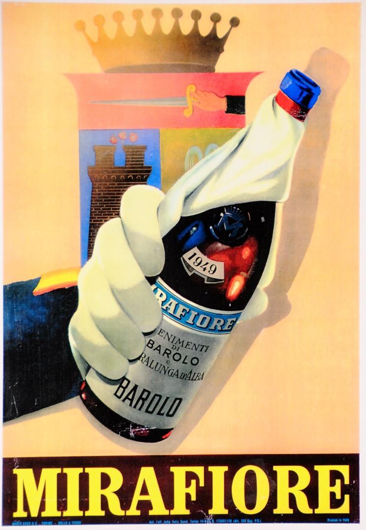 "Vintage Poster Italian Wine ""Mirafiori"" (second printing)"