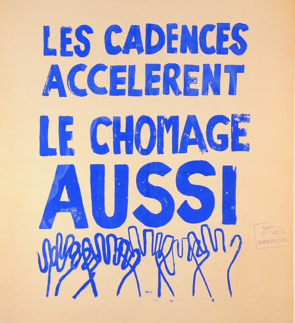 "Original Vintage French 1968 Student Revolution Poster ""le Cadences"""