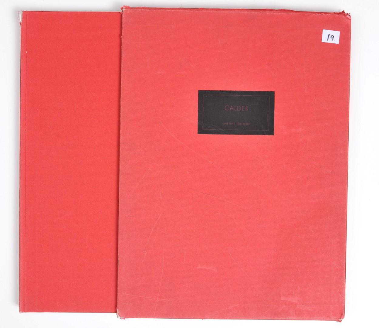 """5 Original Lithographs by Calder Exemplaire 33 """"Derriere le Miroir"""""""