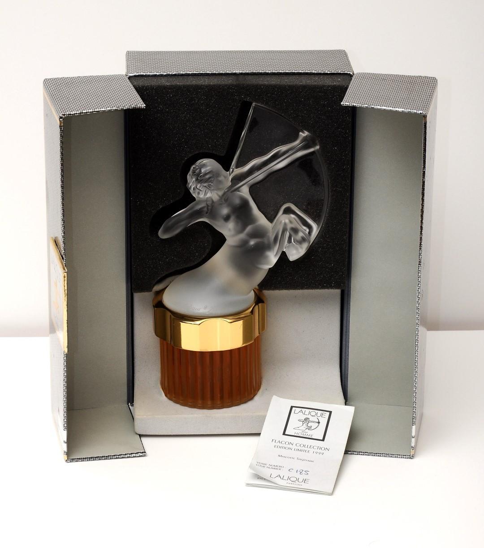 Lalique Perfum Men Original Box Centaur Falcon Collection 1999 Signed