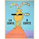"""Lithograph Poster """"LA CORSE - A ACORTE""""  by Savignac"""