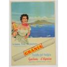 Vintage Italian Advertising Poster LA BUONA PASTA DI GRAGNANO by G. Ghiozza