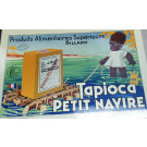 "Original Vintage French Poster On Tin for ""Tapioca Petit Navire"""