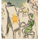 Original lithograph by Marc Chagall HUMANISME ACTIF Paris 1968