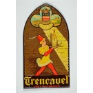 Original Vintage Metal Print Advertising - Trencavel  Brandy