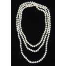 Two to  Three Rows of 5-6 mm Pearls 148 cm