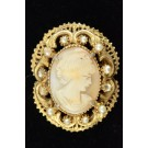 Vintage Costume Jewellry Cameo Brooch Pin by FLORENZA