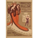 "Original Vintage French Opera Poster ""Princesses Dollar"" by  Clerice"