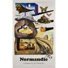 "Original Vintage Poster Chemins de fer Français ""Normandie"" by Salvador Dali 1969"
