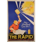 "French Soap Advertising Poster ""The Rapid"""