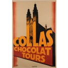 "Art Deco Poster for ""Collas Chocolat Tours"""