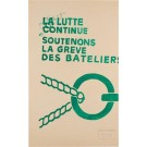 "Original Vintage French Poster ""La Lutte Continue"" MAY 1968"