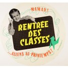 "Original Vintage French Poster ""Rentree des Classes"" by Bernard Baudouin 1952"