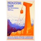 "Original Vintage German Poster Art Deco ""The Predigtstuhl"" in Bad Reichenhall ca. 1930"