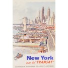 "Original poster New York par la ""TRANSAT"""