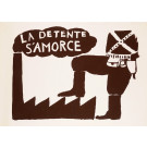 "Original Vintage French Student Revolution Poster ""La Detente S'amorce"" 1968"