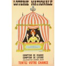 Original Vintage French Poster Loterie Nationale  - TENTEZ VOTRE CHANCE