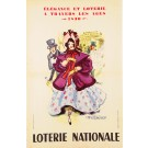 Original Vintage French Poster Loterie Nationale  - Elegance 1962 by Van ROMPAEY