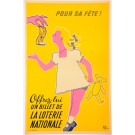 Original Vintage French Poster Loterie Nationale By Pineau ca. 1970