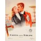 """Original Vintage Italian Small Poster """"Caccia Alla Volpe"""""""