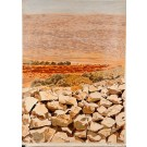 "Beautiful Acrylic on Canvas Landscape Painting ""Jerusalem 3000"" by Azene 1992"
