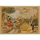 """Original Vintage French Cover Poster """"Voyage au Pays de Cocagne"""" - Léon Saussine"""