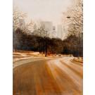 Original Acrylic on Canvas Central Park, New York by Arie Azene 1992