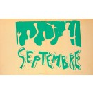 "Original Vintage French Poster ""SEPTEMBER"" May 1968 Protests"