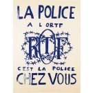 "Original Vintage French Student Revolution ""RTF – La Police"""