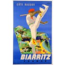 Original French Travel Poster Biarritz By Eric 1950's
