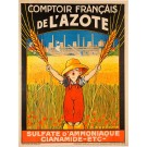 "French Advertising Poster ""Comptoir Français de l'AzoteM"""