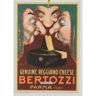 Original Vintage Italian Poster card for Advertising Cheese by Mauzan