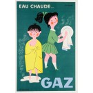 "Original Vintage French Advertising Poster ""Gaz""  by Fix-Masseau ca. 1960"