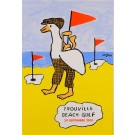 "French Travel Poster ""Trouville Beach Golf"" by Savignac 2001"