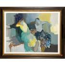 "Original Israeli Art ""Two Seated Woman"" by Tarkay 1980's"