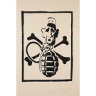 "French Student Revolution Poster ""Charles de Gaulle & Hand Grenade"""