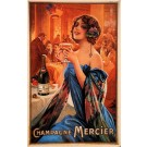 "Original Vintage French Champagne ""Mercier"" Chromolithograph by G.Camps ca. 1900"