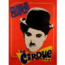 "Vintage French Movie Poster ""The Circus"" Charlie Chaplin reissue. 1960's"
