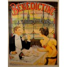 """Vintage French REPRINT  Lithograph Poster """"Bénédictine"""" by Lopes-Silva ca.1990"""