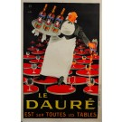 "French Alcohol Advertising Poster ""Le Dauré apéritif"" Lotti Reprint 1980's"