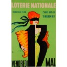 "Original Vintage Loterie Nationale Poster ""Vendredi 13 May"""