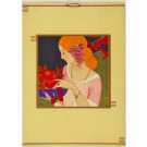 GORGEOUS Vintage Old ART DECO Lithographic Print ca. 1930's