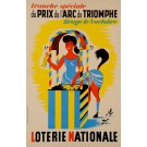"French Poster ""Loterie Nationale"" ""du PRIX de l'ARC de TRIOMPHE"""