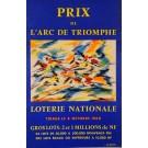 """Original Vintage Loterie Nationale Poster """"Prix de L'arc de Triomphe"""" 1960"""