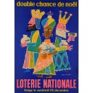 """French Poster for Loterie Nationale """"double chance de noel"""""""