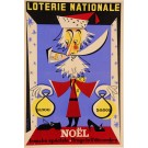 "Loterie Nationale Poster ""Noel"" by Dizambourg ca. 1950"