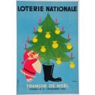"Loterie Nationale Poster ""Tranche de NOEL"""