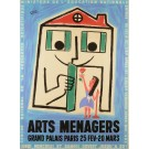 "French Exhibition Advertising Poster ""Arts Ménagers"" by Bernard ca. 1950"