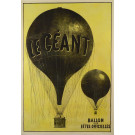 """Original Vintage French Poster """"Le Géant"""" by Félix Nadar Extremely Rare"""