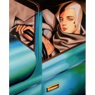 "Original Oil Painting on Canvas ""The Driver AFTER Tamara Lampika"" by Ferjo 2009"